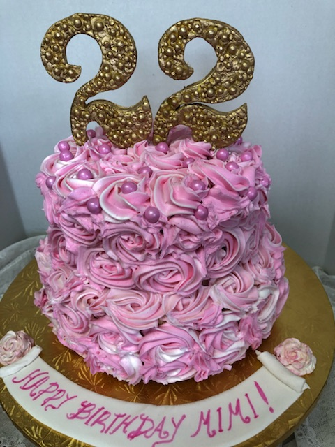 Sweets By Elena Rosettes 22 Pink Birthday Cake