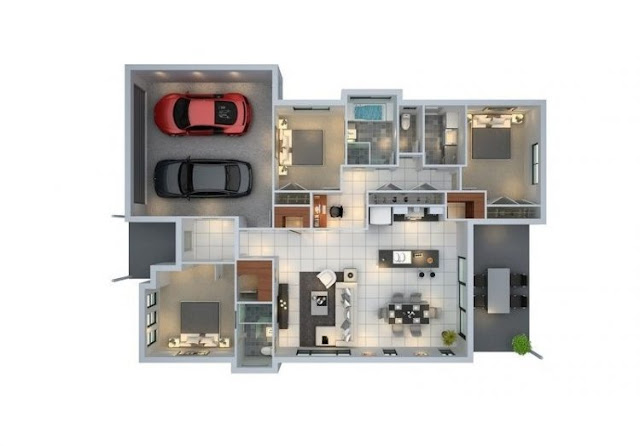 house plans 3 rooms plus mosque