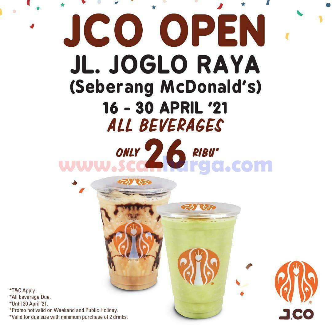 JCO JOGLO RAYA (Seberang McDonald's) Opening Promo All Beverages only 26K