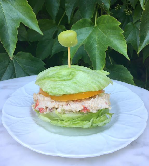 The best Chicken Salad Recipe served on Iceberg Lettuce Buns!