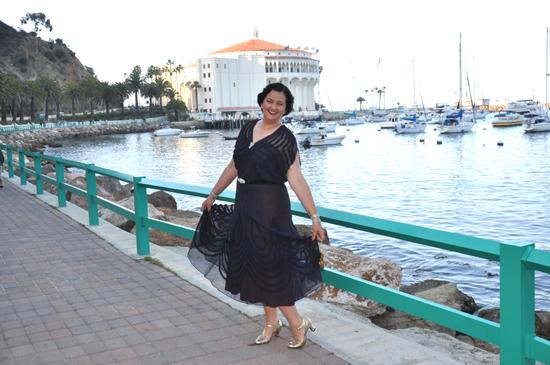 Catalina Casino Avalon Ball 1930s dress