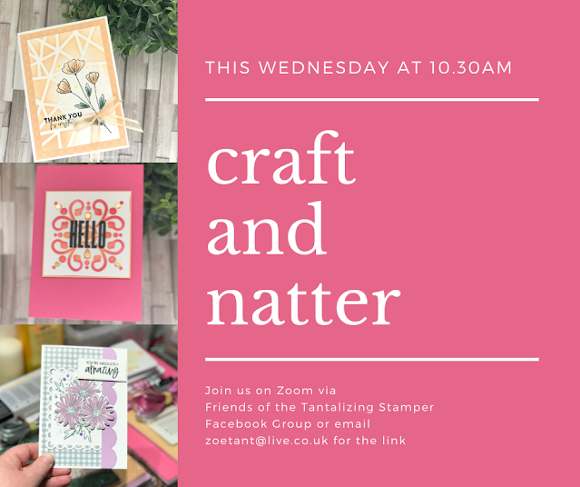 craft and natter on zoom with zoe tant email for info