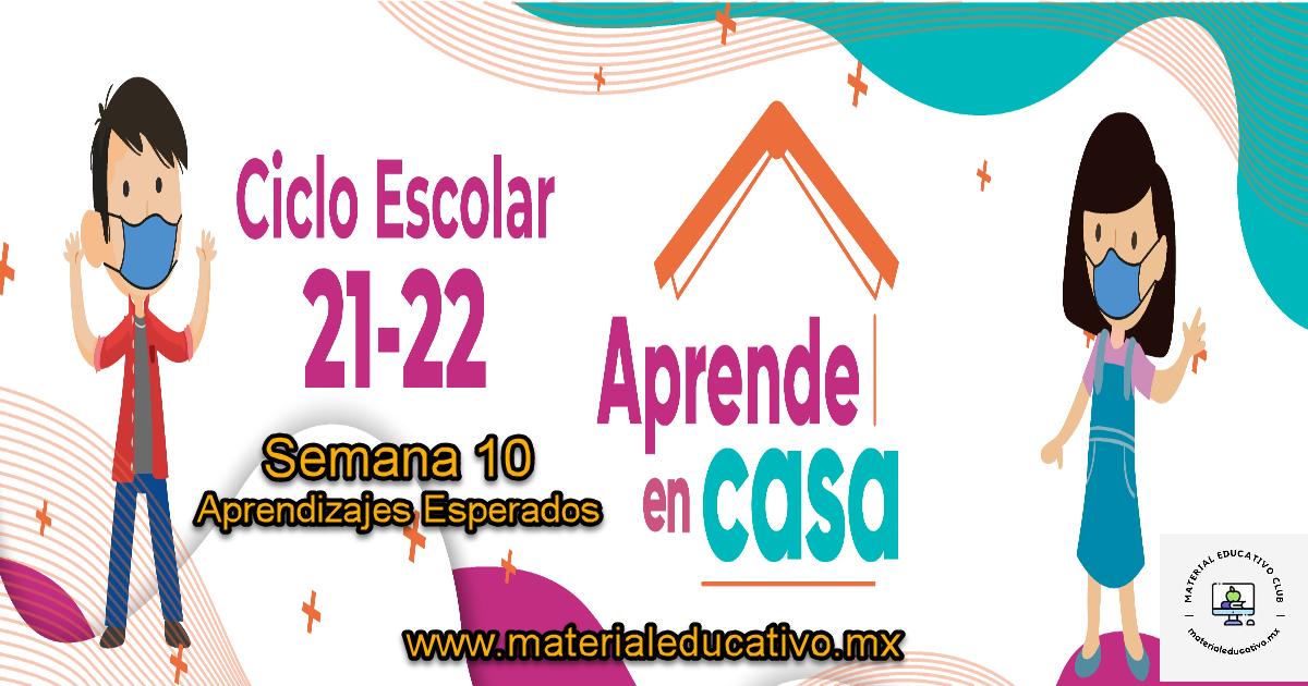 Semana 9 - Aprende en Casa 4 - Aprendizajes Esperados - Preescolar - Primaria - Secundaria