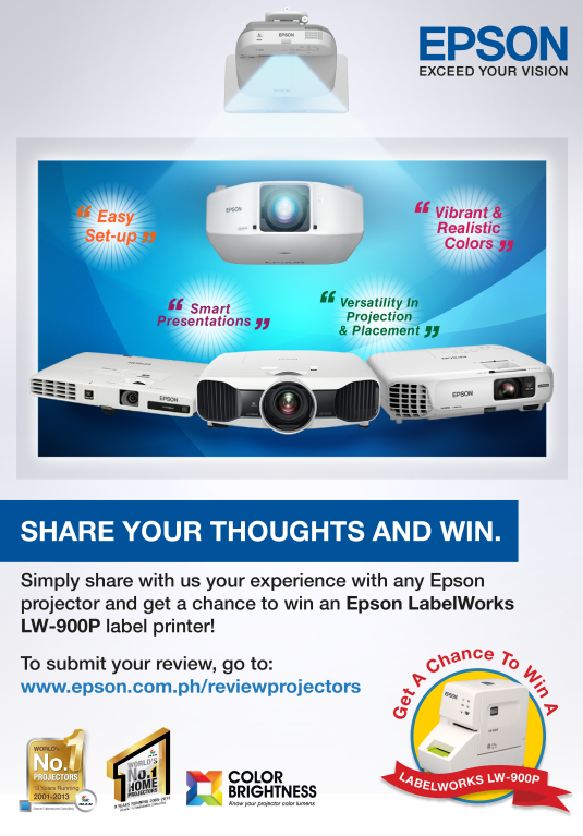 Epson Share your Thoughts and Win Promo