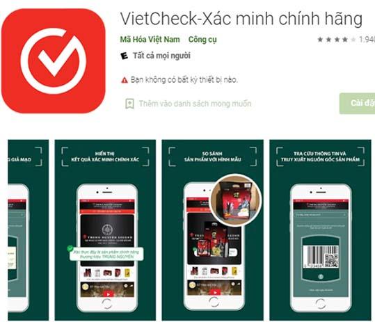 Tải VietCheck - Ứng dụng quét mã vạch, QR Code sản phẩm chính hãng a