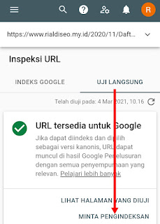 Daftar Website di Google