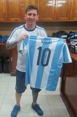 how to get a jersey signed by messi