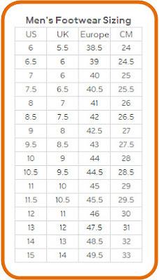 9fc20e5735 Tritak Sports  Tritak Sports   Nike Foot Sizing Chart - Men s ...