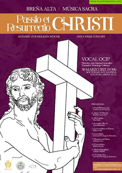 Concierto de música sacra y recital de poesía en el arranque de la Semana Santa de Breña Alta