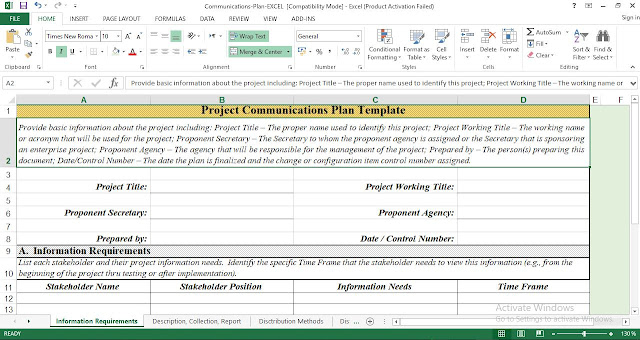 Project Communications Plan Template - Free Download