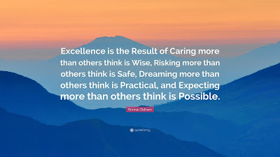excellence is the result of caring more