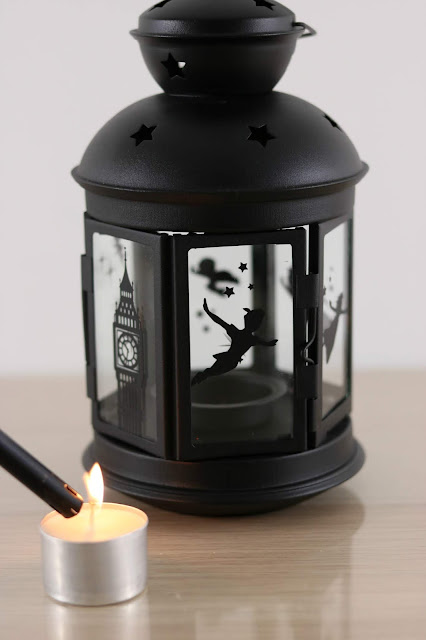 How to Make a Shadow Lantern with the Cricut Maker - Disney Peter Pan Lantern Tutorial - IKEA Rotera Lantern Gift Ideas