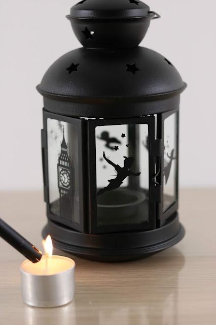 How to Make a Shadow Lantern with the Cricut Maker - Disney Peter Pan Lantern Tutorial - IKEA Rotera Lantern Gift Ideas