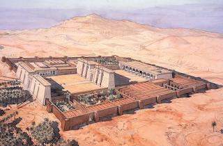 accampamento militare al tempo degli Egizi