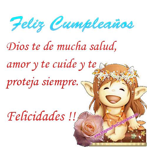 feliz cumpleaños dios