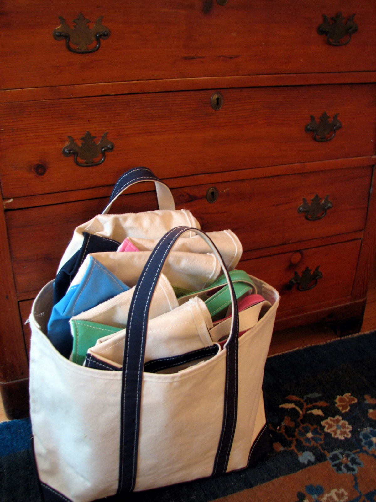 Salt Water New England Canvas Boat Bags And The L L Bean