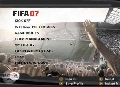 تحميل فيفا 2007 FIFA للكمبيوتر برابط مباشر من ماي ايجي