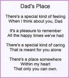 Poetry For All Poems On Dad