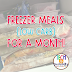Prepping for Back to School! {Freezer Meals}