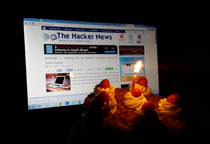 'The Hacker News' Celebrating its 4th Anniversary