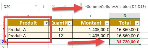Somme cellules filtrées avec code vba Excel