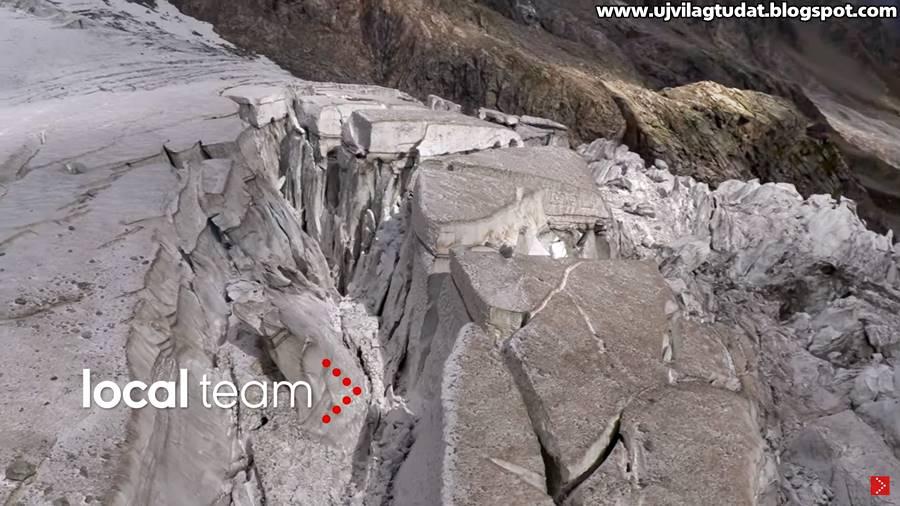 Bármikor összeomolhat a Mont Blanc egyik gleccsere Olaszországban, már evakuálták az embereket