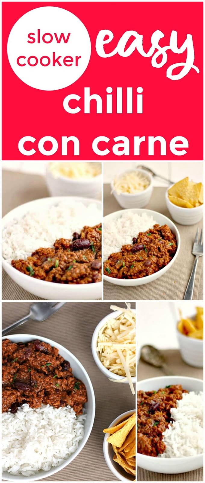 Easy slow cooker chilli