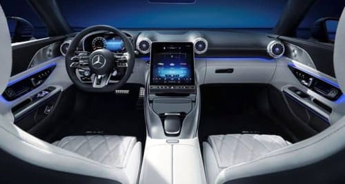 Mercedes introduces a sliding touch screen