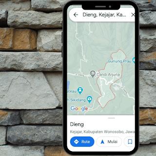 Peta Dieng di Google Map