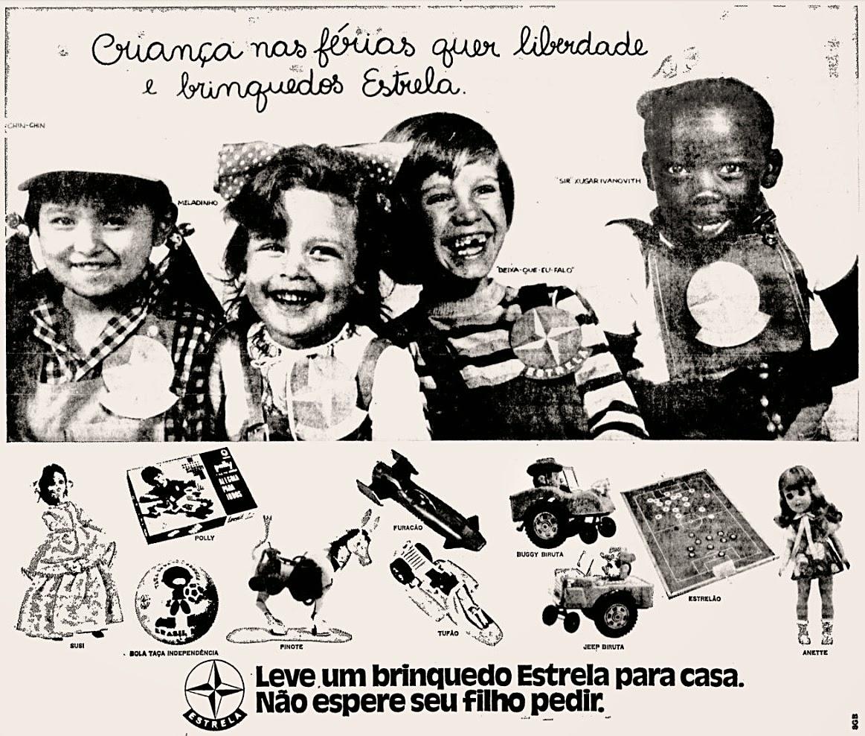 Propaganda antiga dos Brinquedos Estrela veiculada em 1972