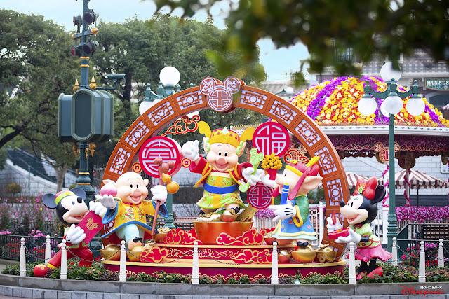 香港迪士尼樂園度假區, Hong Kong Disneyland Resort. 2019年 新春慶祝活動, Chinese New Year Celebration, Disney, HKDL, 三隻小豬, Three Little Pigs, 愛笛兒, Fifer Pig, 愛琴兒, Fiddler Pig, 求實兒, Practical Pig