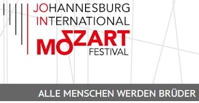 Johannesburg International Mozart Festival logo with slogan
