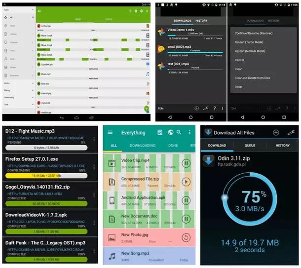5 Application Download Manager It Download Super Fast Files on Smartphones