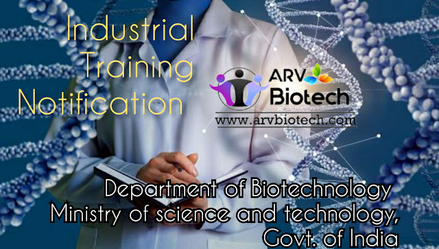 Industrial training notification, https://www.arvbiotech.com