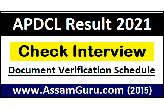 APDCL Result 2021