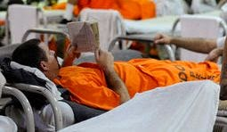 Prison inmate reading