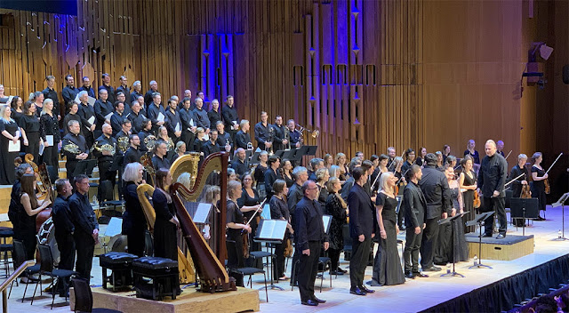 Opera Rara & Britten Sinfonia at Barbican Hall – Mark Elder and soloists after performing Donizetti's Il Paria (Photo JS Henderson)