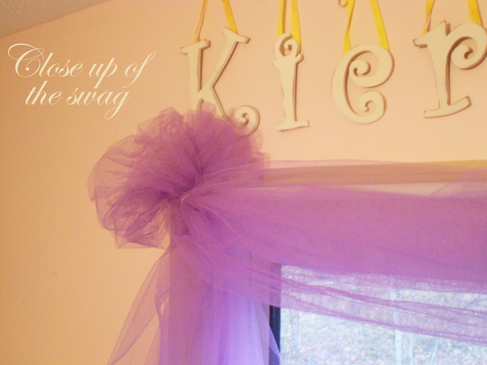Diy Easy No Sew Tulle Swag Curtain