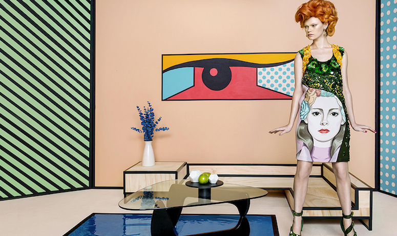 pop art: kelly mittendorf by an le for l'officiel singapore march 2014