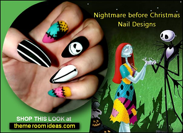 Nightmare before christmas press on nails jack skellington nails  halloween nail designs