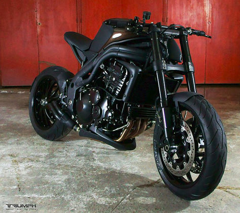 Modif Triumph Speed Triple ala Black Magic
