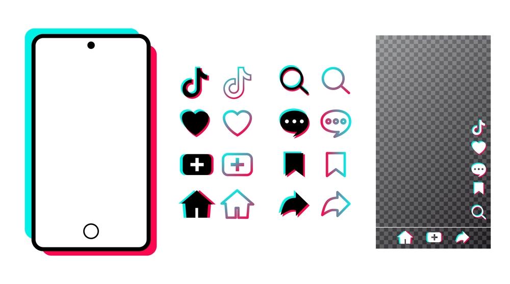 Branding kit aplikasi TikTok