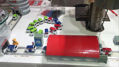 Car factory at Tomica Shop in Tokyo Station