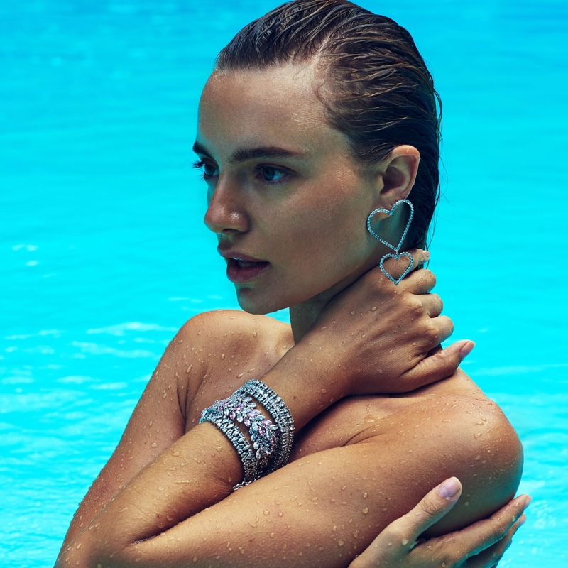 Maya Stepper glitters in Fallon Jewelry campaign