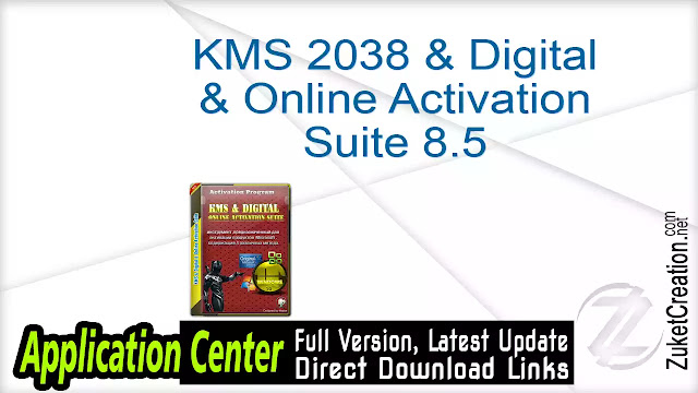 KMS 2038 & Digital & Online Activation Suite 8.5