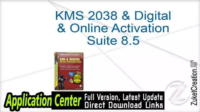 KMS 2038 & Digital & Online Activation Suite 8.5