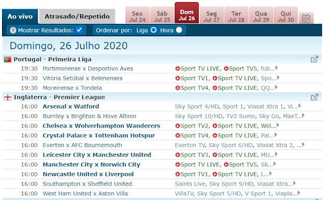 Live Soccer TV - Indispensável para acompanhares os jogos de futebol
