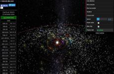 Mapas online de Meteoros, Asteroides y Exoplanetas