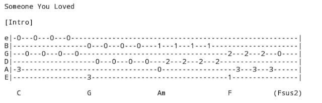 Melodi Petikan Intro Lagu Someone You Loved - Lewis Capaldi