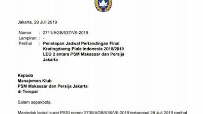 Resmi! Pertandingan Tertunda PSM Vs Persija Digelar 6 Agustus di Mattoanging